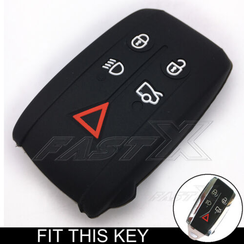 Black Silicone Remote Smart Key Case Cover Holder For Jaguar X S-Type XF XK XKR