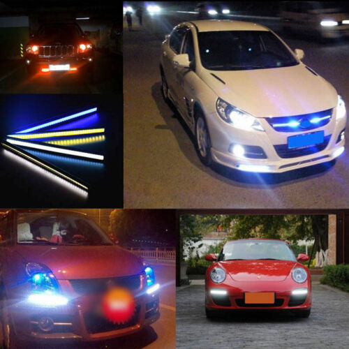 4x LED RGB Car Interior Atmosphere Lights Strip Colors Decor Lamps 12V Footwell