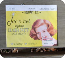 Jac-O-Net Nylon Hair Net With Elastic Medium Brown Bouffant Size
