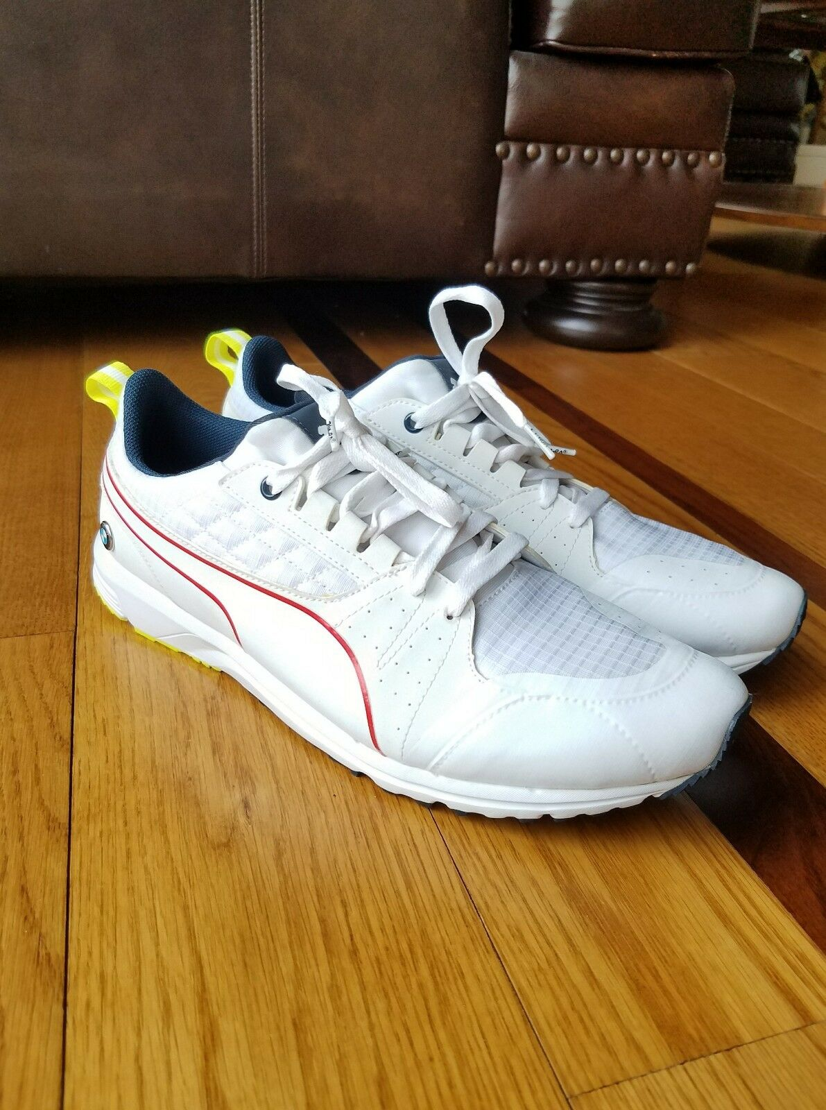 NEW PUMA Men's BMW Motorsport White Sneaker shoes Powered by M Size 13 Eur 47