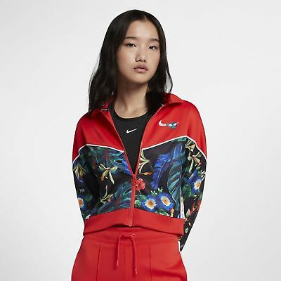 Nike Sportswear Track Jacket Women's Floral Light Crimson Balck White AQ9726 696 | eBay