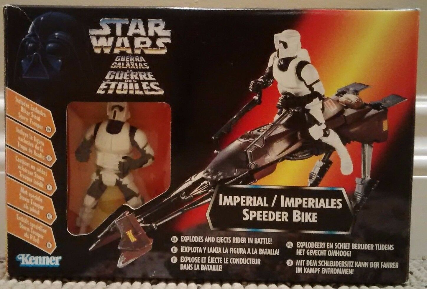 Imperial Speeder bike Hasbro Rare Tri-Logo multi langue