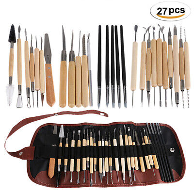 27 PC Sottery Sculpture Tools Clay Sculpting Carving Modeling Ceramic DIY kit