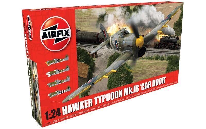 Airfix 1 24 Hawker Typhoon 1b Puerta Coche Maqueta de Plástico en Kit 19003