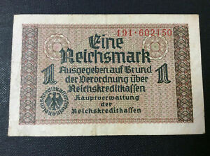 GERMANY-1-REICHMARK-Banknote-1938-1945-191-602150