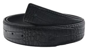 QHA-Mens-Alligator-Genuine-Leather-Replacement-Belt-Strap-No-Buckle-38mm-Wide