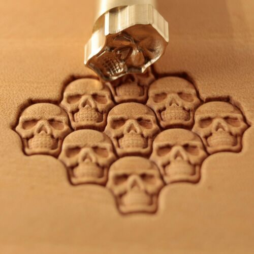 Leather stamp tool for leather crafting crafts Puzzle Skull brass  stamps #374