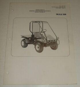 [ZSVE_7041]  1990-1993 KAWASAKI MULE 500 KAF300 ASSEMBLY & PREPARTION MANUAL WIRING  DIAGRAM   eBay   1990 Kawasaki Mule Wiring Diagram      eBay
