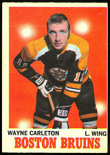 1970 71 OPC O PEE CHEE HOCKEY #9 WAYNE CARLETON EX COND BOSTON BRUINS