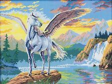 Flying Horse Fantasy/ Magical Equestrian 14 count cross stitch kit DMC LAST ONE