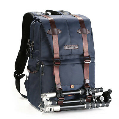Large Camera Backpack Bag Photo Bag Nylon w/ 2 Separate Packages Camera Insert