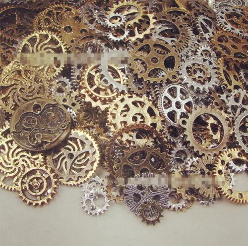 20 Stück Bronze Uhrenteile STEAMPUNK CYBERPUNNK COGS GEARS DIY JEWELRY CRAFT