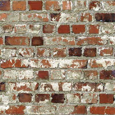 Muriva Loft Brick Effect Wallpaper Red (102538)