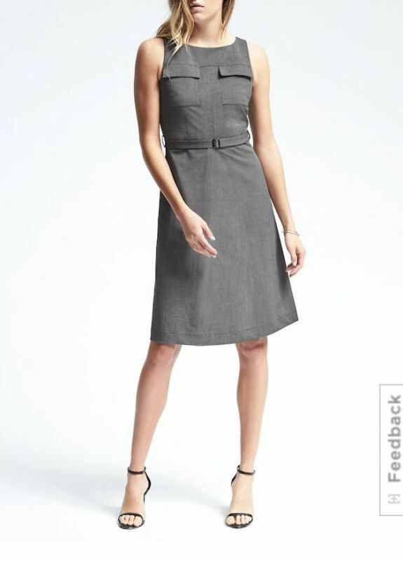 NWT Banana Republic Sleeveless Belted Pocket Dress Größe 00P