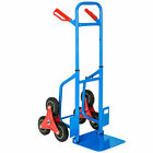 Tectake 402451 Carrello per Scale 6 Ruote Portapacchi Manuale fino a 100 kg - Blu