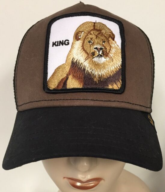 65fba321 Goorin Bros King Lion Trucker Mesh Adjustable Snapback Hat Brown
