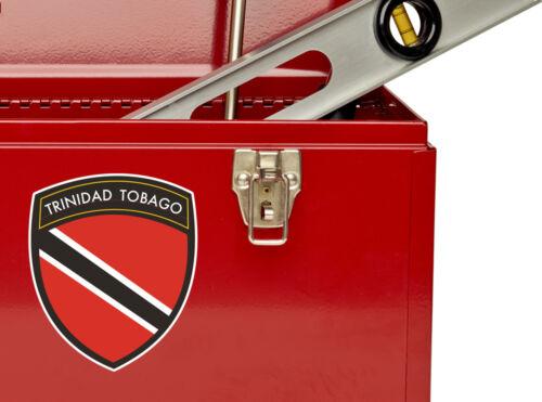 2 X TRINIDAD Tobago Bandiera Design Vinile Adesivi Da Viaggio Bagaglio #10663