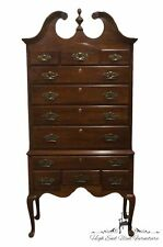 KLING Colonial Solid Mahogany 37″ Queen Anne Highboy