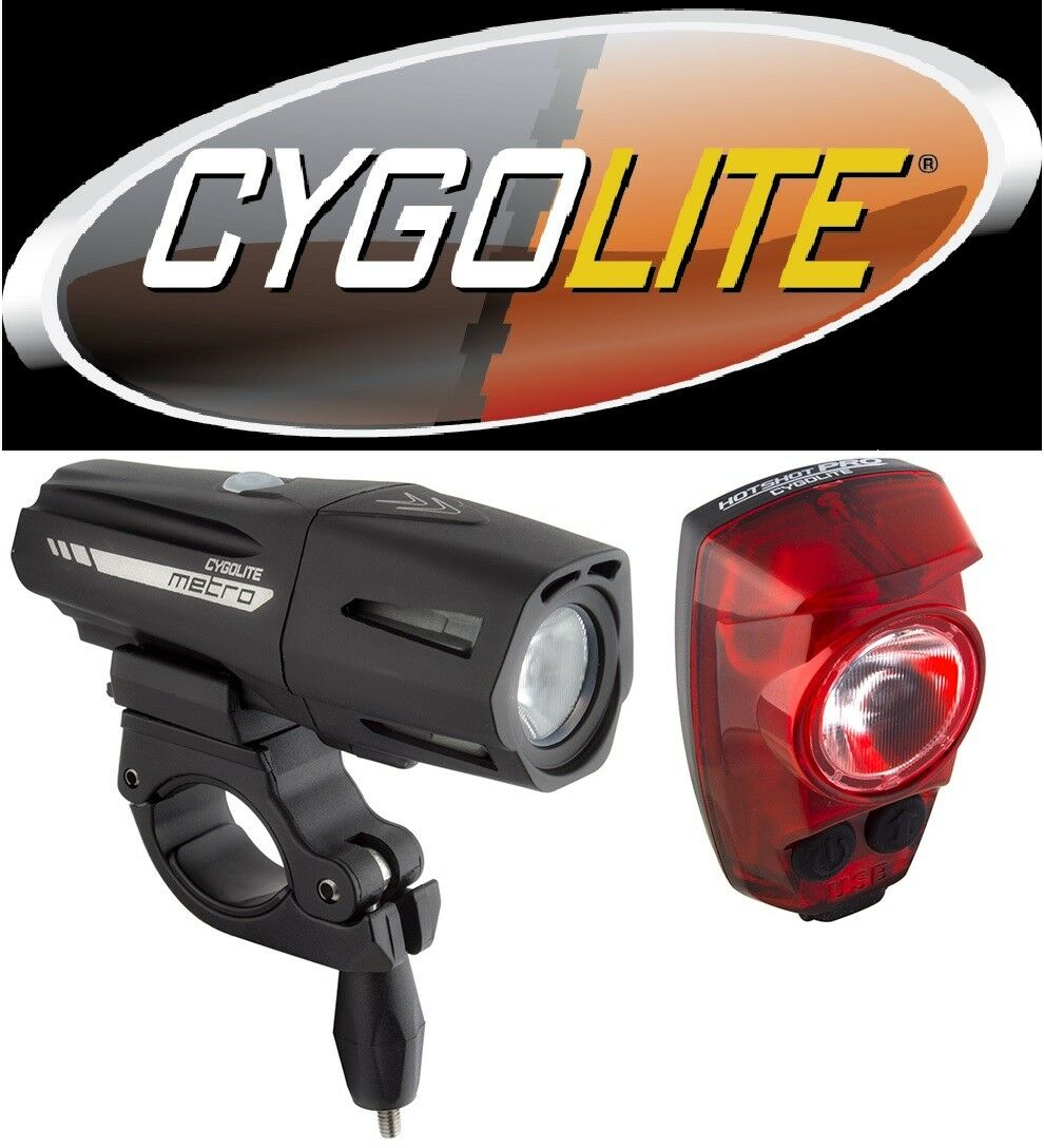 Cygolite Metro Plus 800 Bike Head light & Hotshot  PRO 150 Tail Light Set USB NEW  welcome to buy