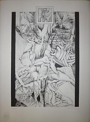 Eerlijkheid Schoendorff Max Lithographie Signée 1962 Abstraction Art Abstrait Surréalisme