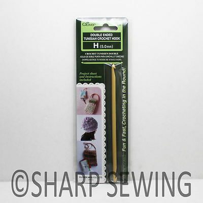 Clover Double Ended Tunisian Crochet Hook Choose From *4* Various Sizes!