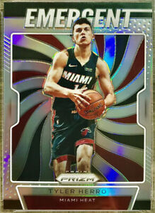 2019-20-Panini-Tyler-Herro-Silver-Prizms-Rookie-Card-Rc-Emergent-Miami-Heat