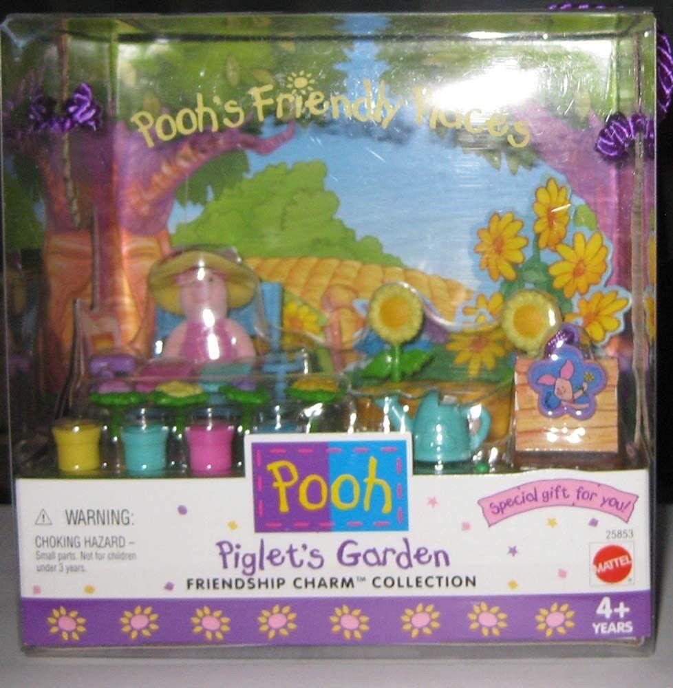 POOH FREUDLICHE ORT PIGLET'S GARDEN BRAND NEU DATUM 1999