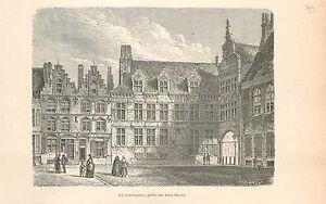 La-Conciergerie-Petite-Rue-Saint-Martin-Bruxelles-GRAVURE-ANTIQUE-OLD-PRINT-1880