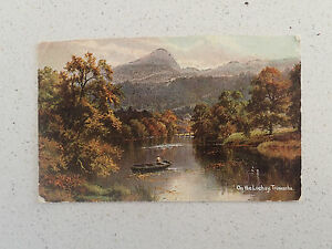 Vintage-Postcard-with-Stamp-On-the-Lochay-Trossachs-91