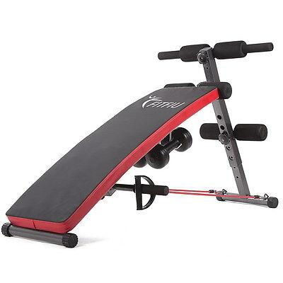 Panca per addominali fitness palestra pesi allenamento fitfiu