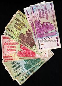 10 x 500 Million Zimbabwe Dollars Bank Notes AA AB 2008 10PCS
