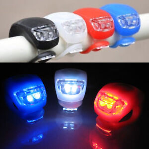 1x Cycling Bike Front Rear Tail LED Light Silicone Headlight Warning Flashlight