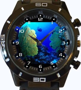 Gorgonian-Fan-Scuba-Diving-View-from-Deep-Dive-New-Gt-Series-Sports-Unisex-Watch