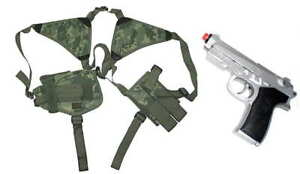 ACU-Digital-Double-Shoulder-Holster-w-2-Clip-Pouch-FREE-Airsoft-Pistol-Gun
