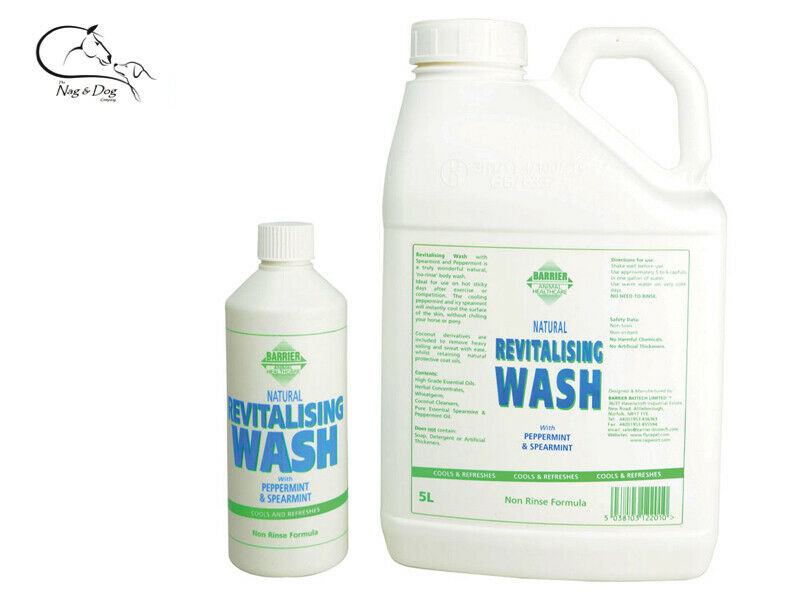 Barrier Revitalising Wash No Rinse Body Mane Tail Horses Pony Donkey FREE P&P