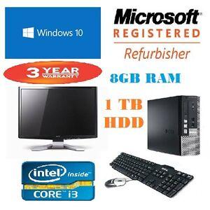 Rapide-dell-core-I3-ordinateur-de-bureau-8GB-ram-1TB-disque-dur-3-ans-de-garantie-windows-10-ecran