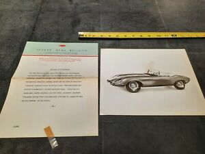 1963 Jaguar XKE ROADSTER Sedan Press Dealership Salesman Brochure Photo Original