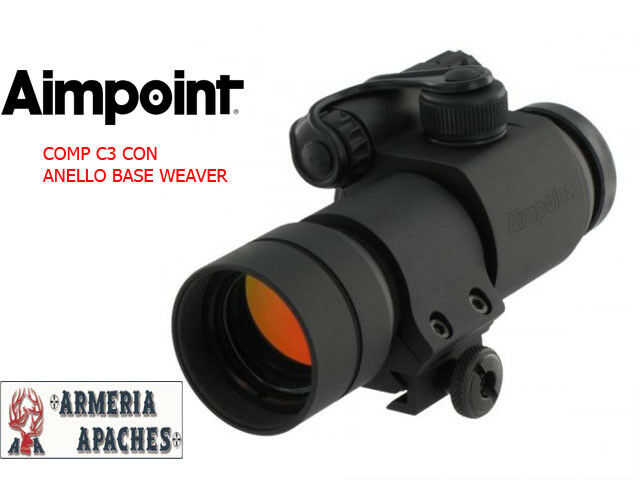 Punto Red Red Dot crosshair Aimpoint Comp C3 with ring base weaver
