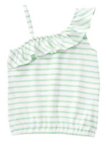 Nwt Gymboree Girls Fruit Punch Green Stripe Tank Top Shirt Size 7