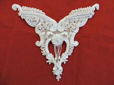 YOKE NECKLINE BODICE PEARL WEDDING BRIDAL SEQUIN BEADED APPLIQUE 3503-WD