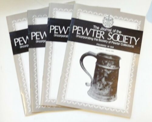 Vol 5 Nos Pewter Society Journals 1-4 complete, 1985-1986