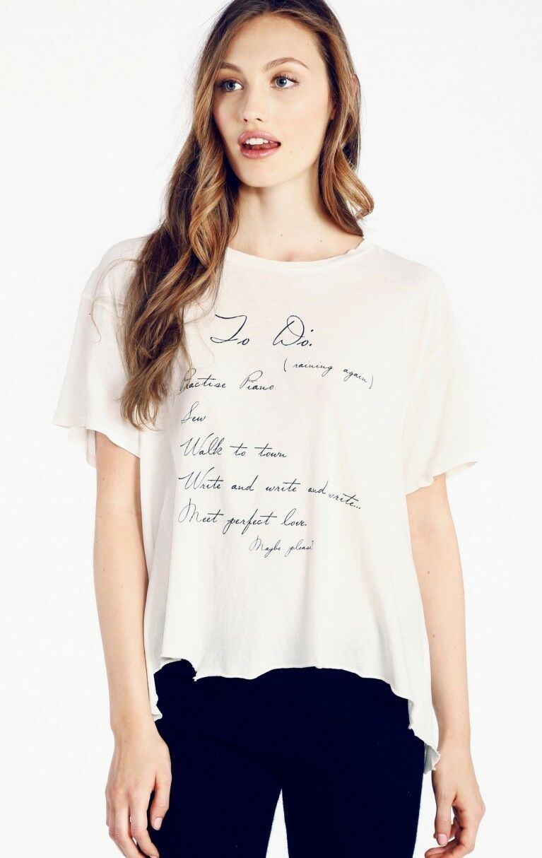 NWT Wildfox Couture - Jane's To-Do List Jagged Edge Tee in Vintage Lace