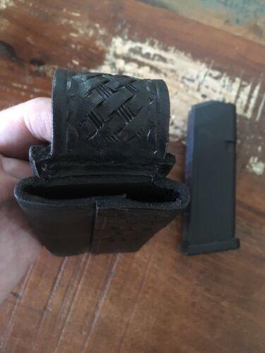 En Cuir Tex Shoemaker unique Magazine Carrier Horizontal Pour Glock 19 17 23