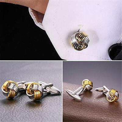 1 pair silver knot cufflinks,knot shape cufflinks,silver color,cute cufflinks