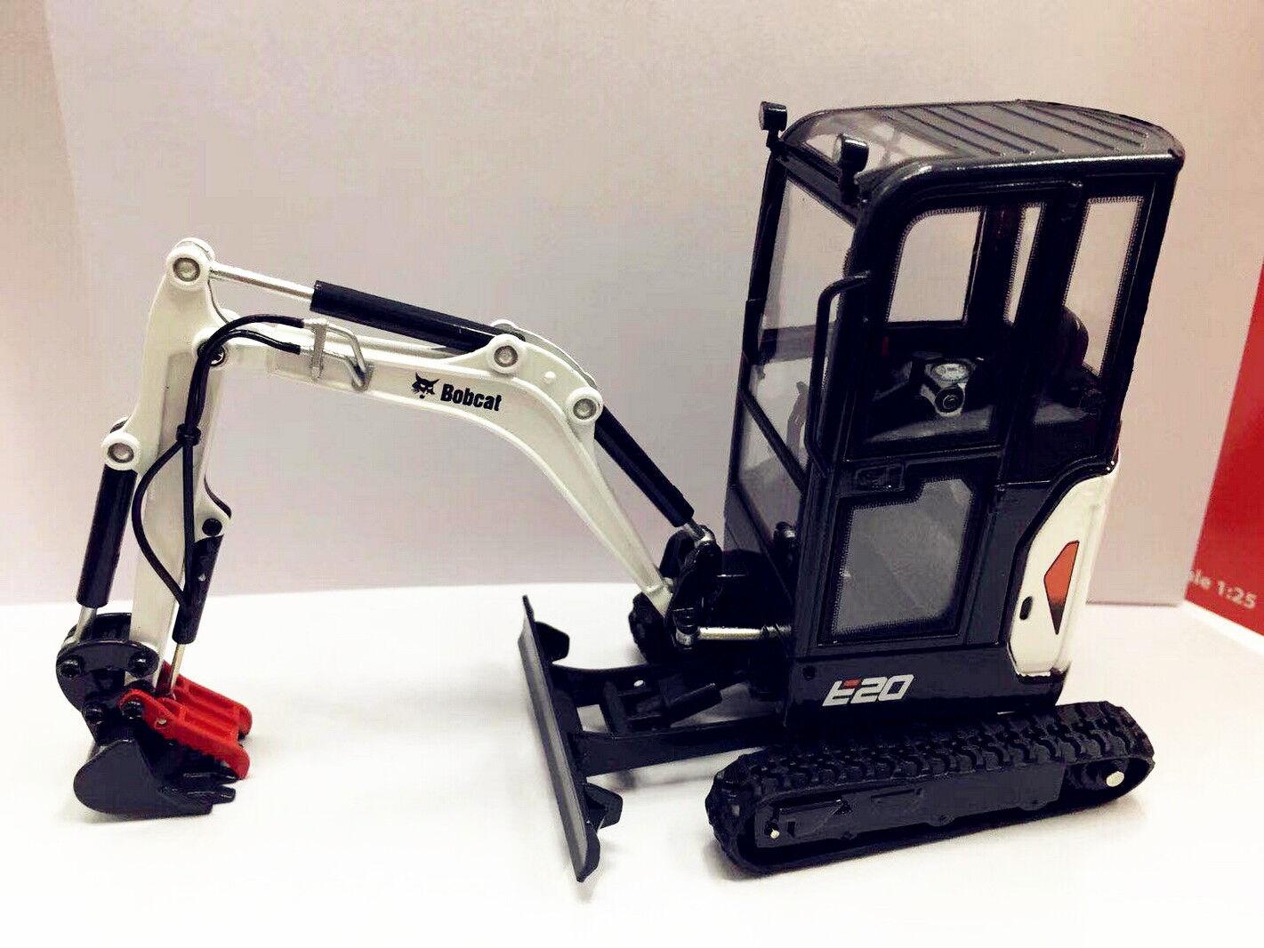 Equipo Bobcat 1 25 25 25 Modelo E20 excavadora compacta Diecast Universal Hobbies 8098 dfd41e