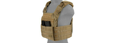 SAPC Speed Attack Tac Airsoft MOLLE Plate Carrier Vest in Land Camouflage