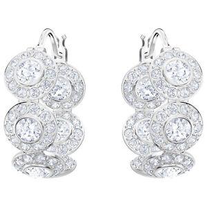 c5d1bb557 Image is loading Swarovski-5418269-Angelic-Pierced-Earrings-Hoops-White- Rhodium-