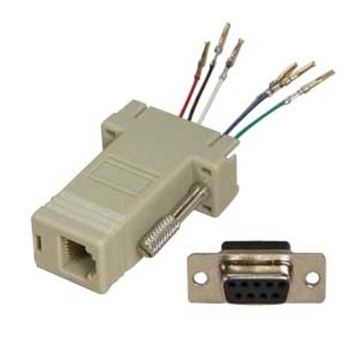DB9pin ~RJ12/RJ11 Jack Modular Adapter 6P6C 6wire Data/Phone/Telephone on