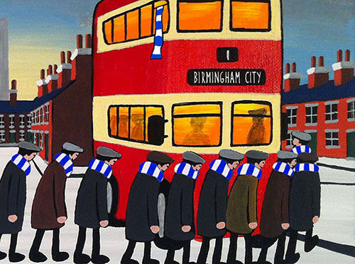 "JACK KAVANAGH /""GOING TO THE MATCH/"" BIRMINGHAM CITY FRAMED PRINT"