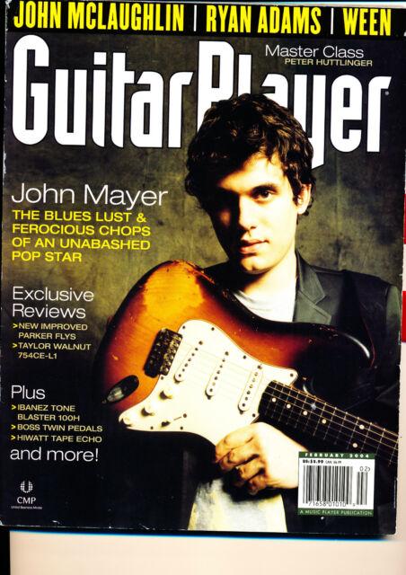 Guitar Player February 2004 John Mayer McLaughlin Ween Parker Fly Hiwatt Ibanez